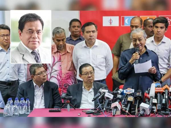 Kerajaan PH di bawah pimpinan Dr Mahathir. -Foto 123rf, gambar kecil: Johan Jaaffar