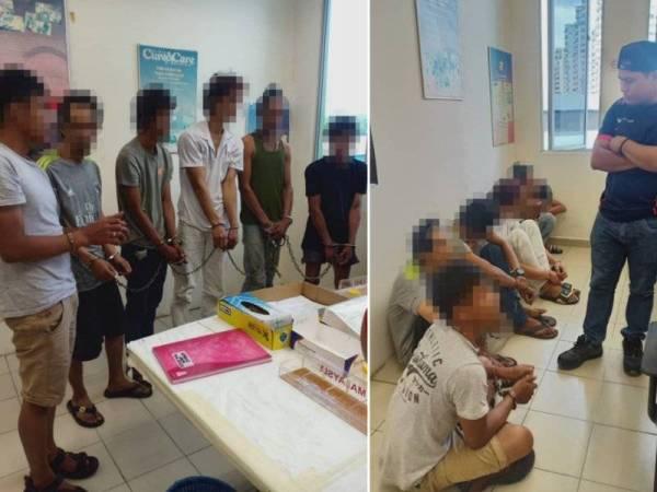 AADK menahan enam lelaki di Bandar Bukit Tinggi, Klang, semalam, kerana dipercayai terlibat dalam penyalahgunaan dadah.