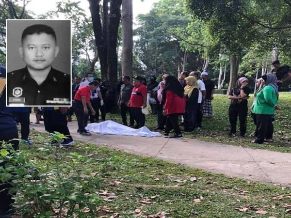 Allahyarham disahkan meninggal dunia selepas rebah ketika berjoging di Taman Perbandaran Tengku Anis hari ini. (Foto pembaca)