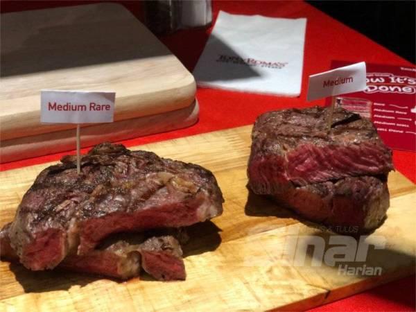 SETIAP jenis daging stik dimasak pada tempoh masa dan suhu yang berbeza-beza.