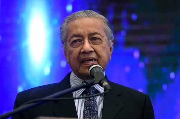 Perdana Menteri Tun Dr Mahathir Mohamad - Foto Bernama