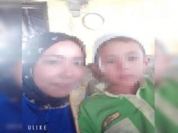 Kanak-kanak yang ditemui selamat selepas dilarikan perompak bersama kereta ibunya.