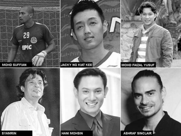 Artis dan ahli sukan Malaysia yang meninggal dunia kerana serangan jantung.