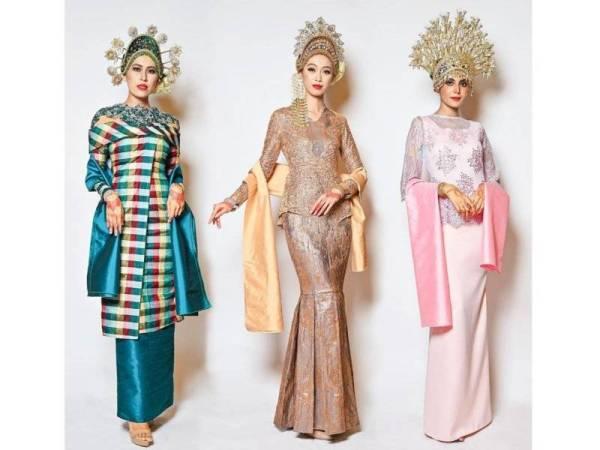 SEBANYAK 28 koleksi busana pengantin berasaskan fabrik songket ditawarkan di butik Shanell Harun Creations.