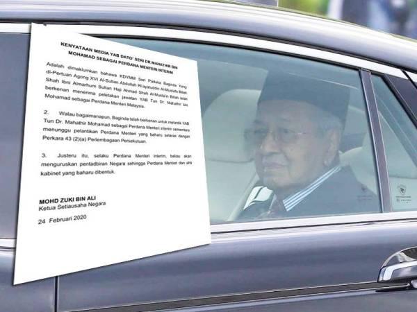 Image result for tun m perdana menteri interim