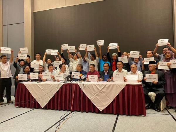 Sidang media PH Johor di Grand Paragon Hotel malam ini.