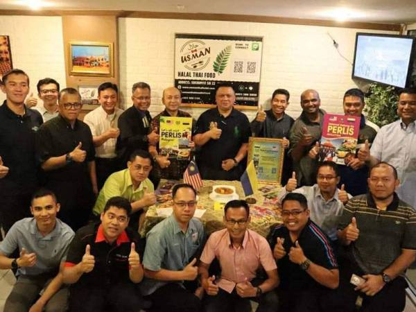 Tuanku Syed Faizuddin ketika melancarkan Perlis Food Promotion di Bangkok, Thailand pada Februari lalu.