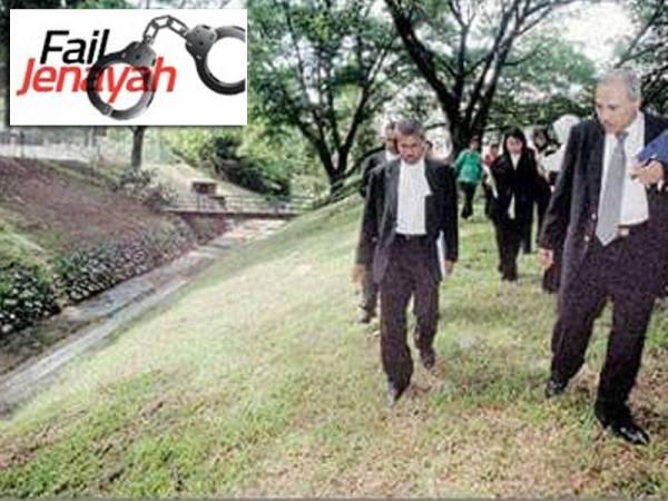 Lokasi kejadian kes bunuh melibatkan Allaharyam Bakarudin Busu. - Foto Utusan Malaysia
