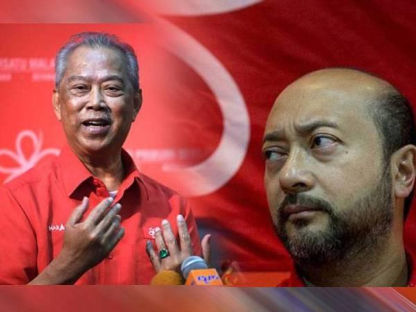 Gambar dari kiri: Muhyiddin, Mukhriz