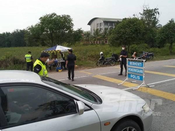 Polis KLIA melaksanakan SJR menerusi Ops Covid-19
