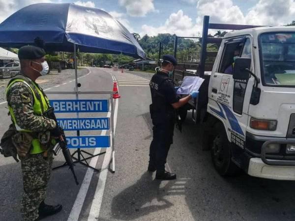 Lebih 300 anggota polis di Jerantut terlibat sepanjang PKP dengan bantuan 41 anggota tentera dan PGA.