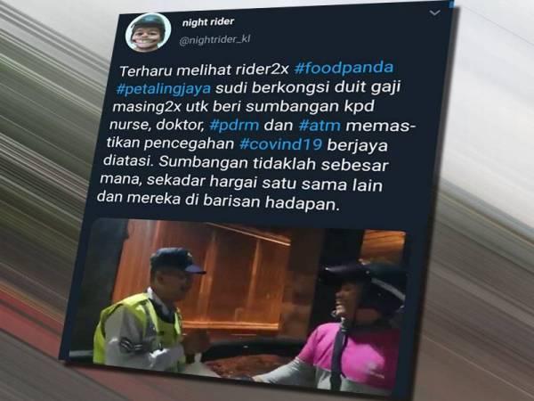 Paparan Twitter Night Rider hulur bantuan kepada petugas barisan hadapan curi perhatian orang ramai.