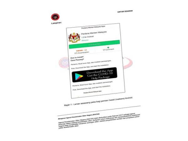 Aplikasi bernama Perdana Menteri Malaysia yang mampu ciri maklumat sensitif. - Foto JPM