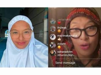 Nabila Huda mengajak peminatnya membaca al-Quran sepanjang PKP ini. - Foto Instagram kupu_kupu