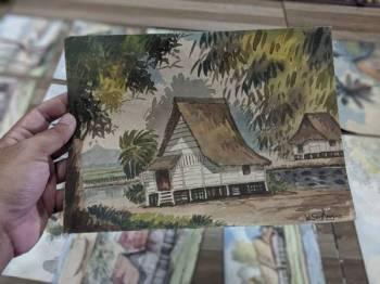Lukisan rumah tradisional milik Allahyarham Wan Said yang dikagumi ramai.