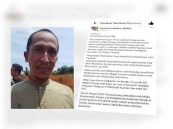 Ali Akbar (Facebook Geram mendedahkan kerja-kerja bauksit sudah mula tempoh percubaan hari ini.)