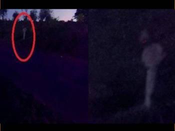 Paparan video penampakan pocong yang menakutkan penduduk di daerah Purbalingga. - Foto Tribun News