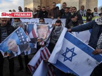 Rakyat Palestin membantah rancangan jahat Israel merampas 30 peratus tanah Tebing Barat termasuk di Lembah Jordan.