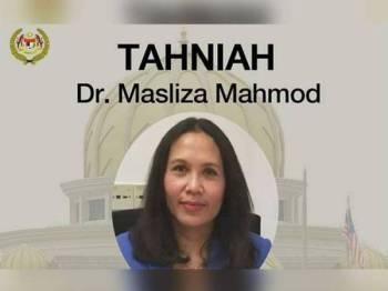 Dr Masliza Mahmod  melakar sejarah sebagai wanita pertama Malaysia dilantik sebagai Profesor Madya bagi Perubatan Kardiovaskular di Universiti Oxford, United Kingdom (UK).