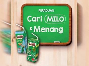 Peraduan Cari Milo & Menang menawarkan hadiah simpanan kewangan kepada pemenang.