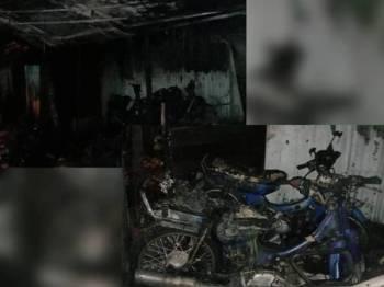 Sebuah bengkel motosikal terbakar di Jalan Kuala Ketil berhampiran Stesen Minyak Caltex tengah malam tadi.