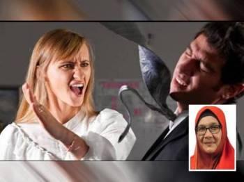 Lima kes keganasan rumah tangga melibatkan mangsa lelaki berusia 18 hingga 60 tahun dikesan di Selangor sepanjang PKP. Gambar kecil: Dr Siti Mariah Mahmud