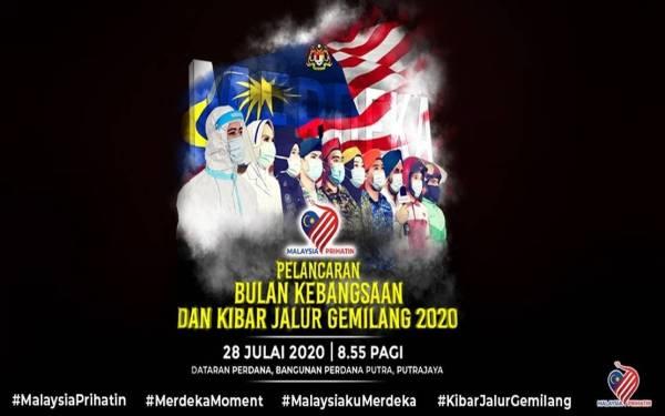 Logo Hari Kebangsaan 2020 Lambang Kesepaduan Rakyat Hadapi Covid 19