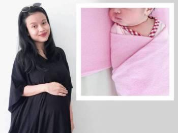 Erynne Erynna selamat melahirkan bayi sulungnya pagi semalam.  - Foto Instagram erynneerynna