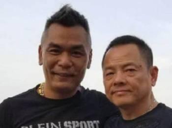 Chak Ho Sum (kiri) bersama Pengerusi Inix Technologies, Wan Kuok Koi yang juga hartawan Macau.