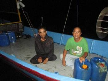 Mangsa ditemui dalam keadaan selamat selepas dilaporkan hilang sejak Sabtu lalu. Foto: APMM Perak.