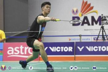 Zii Jia diletakkan sebagai pilihan utama pada saingan Divisyen 1 Kejohanan Badminton Jemputan BAM. FOTO: BAM