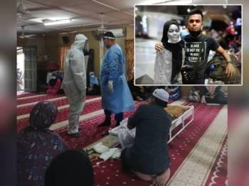 Foto dimuat naik dalam Facebook MALBATT 850-7. Gambar kecil: Allahyarham Norhidayah bersama suaminya, Lans Koperal Mohd Noh.