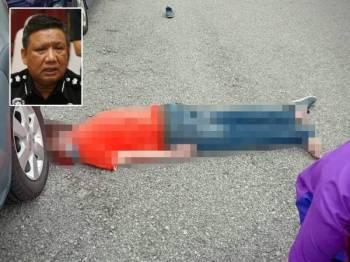 Lelaki ditemui tidak sedarkan diri dalam keadaan tertiarap dan kepala berdarah di kawasan parkir di Taman Ipoh Selatan, semalam. (Gambar media sosial). Gambar kecil: A Asmadi Abdul Aziz