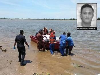 Mayat Muhammad Munzir Mustafa, 28, ditemui terapung di Jubakar Pantai, Tumpat pada jam 1.30 tengah hari tadi.