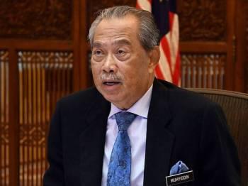 Perdana Menteri Tan Sri Muhyiddin Yassin -Foto Bernama