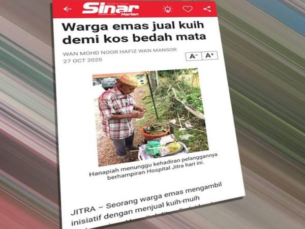 Artikel Sinar Harian 27 Oktober 2020.