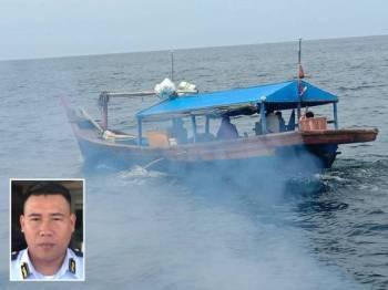 Bot nelayan Indonesia dikesan ceroboh perairan negara di usir. Gambar kecil: Shahrizan Raman  -  Foto APMM Perak