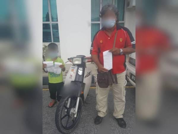 Kanak-kanak tersebut dikenakan tiga saman manakala warisnya satu saman selepas tampil ke IPD Kubang Pasu hari ini.