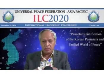 Video persidangan Muhammad Nasir di Virtual International Leadership Conference pada 29 November lalu.