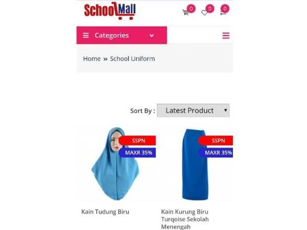 Ibu bapa boleh membeli keperluan sekolah jenama Canggih di schoolmall.com.my pada harga diskaun yang tinggi.