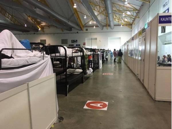 Masih terdapat banyak katil kosong di pusat kuarantin dan PKRC di MAEPS.