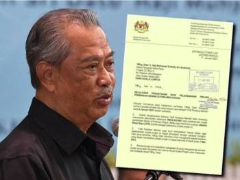 Surat yang tular di sosial media berkenaan kelulusan projek dewan di Parlimen Pagoh yang bernilai RM35 juta.