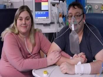 Kerr dan suaminya, O'Brien masih memerlukan bantuan oksigen selepas dirawat di hospital sejak awal bulan lalu. - Foto Agensi