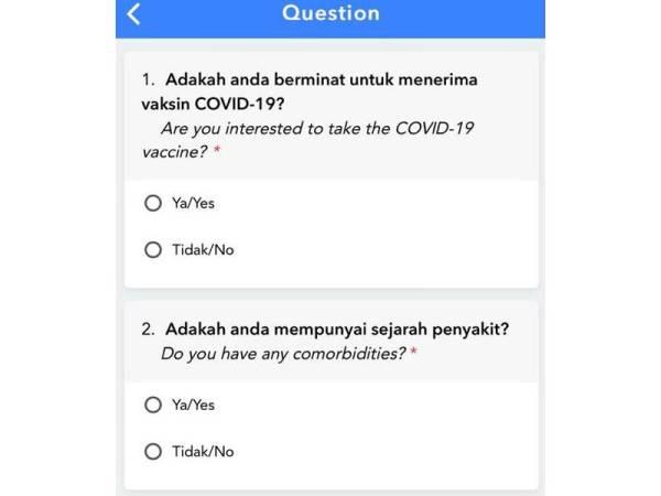 Antara soalan yang perlu dijawab pemohon