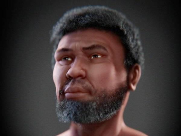Perak Man, rangka manusia tertua berusia 11,000 tahun yang ditemukan 30 tahun lepas di Lembah Lenggong, Perak kini mempunyai 'wajah' lakaran yang siap pada 19 Januari lepas. - Foto Bernama