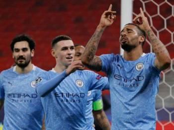 City membawa bekalan selesa dua gol untuk aksi timbal balik di Etihad 17 Mac depan.