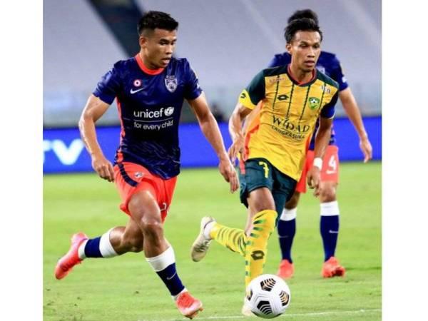 Safawi Rasid menjaringkan gol sulung JDT malam tadi. - Foto: Facebook Johor Southern Tigers