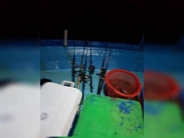 Antara peralatan memancing yang digunakan. Foto: Jabatan Perikanan Johor