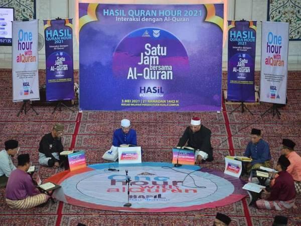Program Hasil #QuranHour di Masjid Wilayah Persekutuan pada Isnin. - Foto ASRIL ASWANDI SHUKOR
