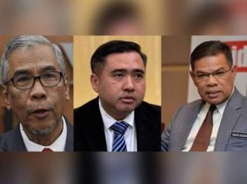 Gambar dari kiri: Datuk Dr Hatta Ramli, Anthony Loke Siew Fook, Datuk Seri Saifuddin Nasution Ismail